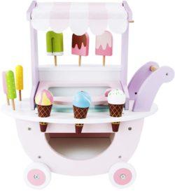 carrito de helados de juguete en madera