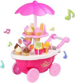 Carro de Helados de juguete color rosa