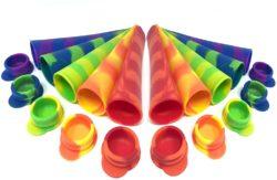 10 Moldes de Helados de silicona